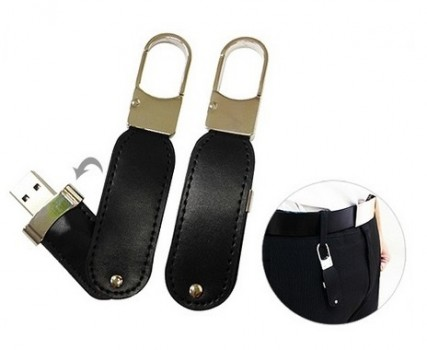 Hook Leather USB Thumb Drive