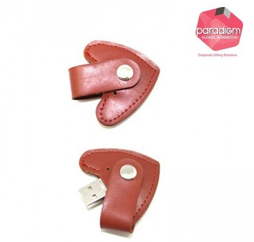 Heart Shaped Leather USB Flash Drive