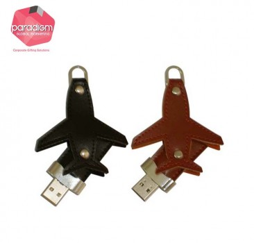 Leather Aeroplane USB Flash Drive
