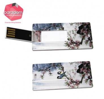 Flip Card Shaped USB Flash Drive