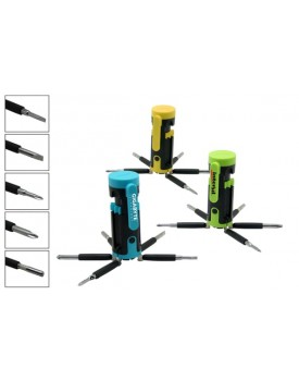 Magnetic Head Tool Set with LED