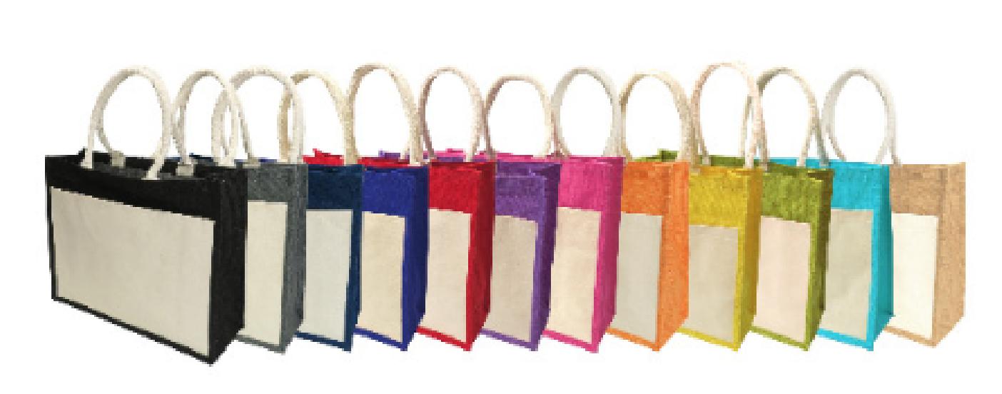 PGM BG Jute Bag With Canvas Front Pocket