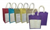 PGM BG Jute Bag With Canva Pocket