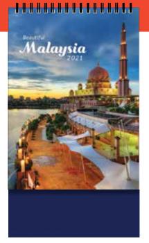 PGM ED Desktop Calendar - Beautiful Malaysia (V)