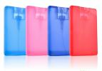 Card size sanitizer spray bottle