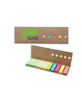 Eco Paper Ruler Memo Sticky Notepad